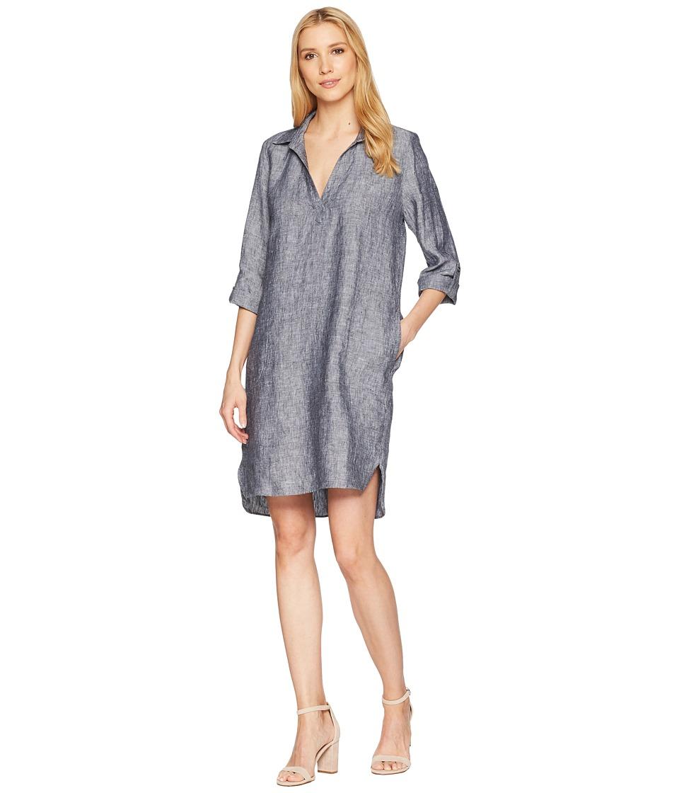 Elliott Lauren - Linen Shirtdress (Charcoal) Womens Dress