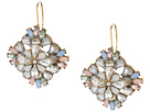 Steve Madden Floral Jeweled Statement Earrings