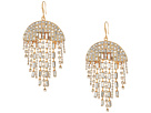 Steve Madden Semi-Circle Rhinestone Chandelier Earrings