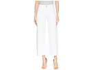 Hudson Hudson Holly High-Rise Wide Leg Crop w/ Released Hem in White
