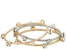 Steve Madden Three-Tone Stud Bangle Set