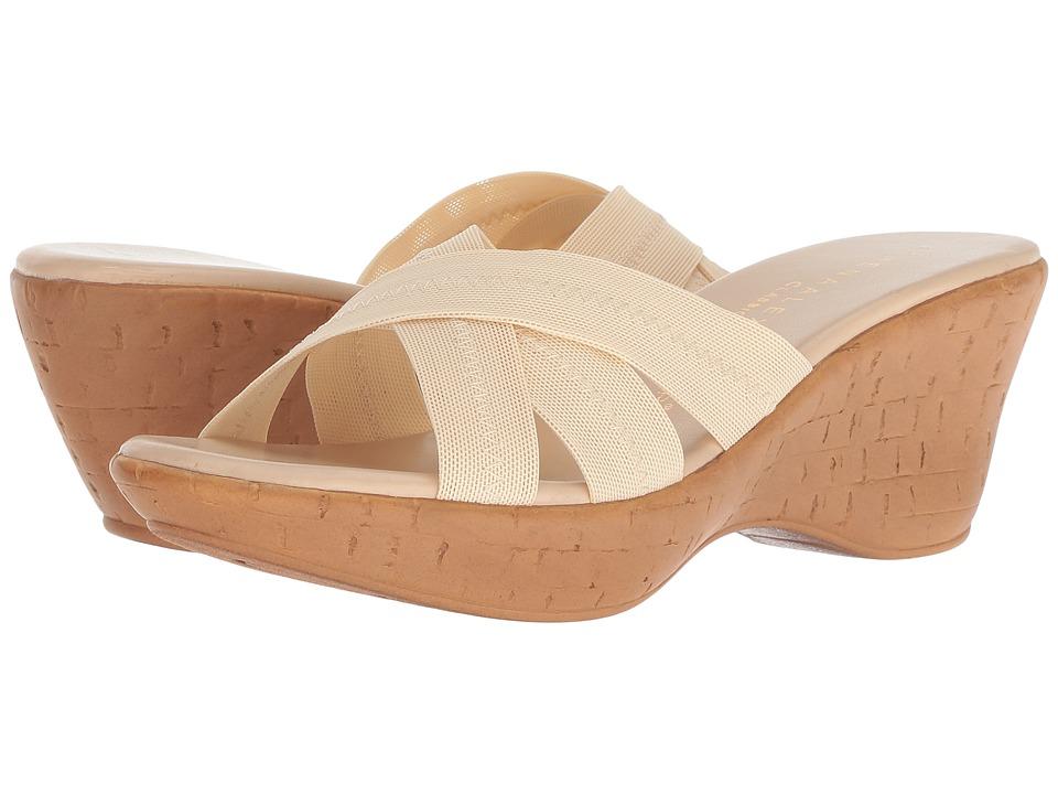 Athena Alexander Optima (Beige Stretch) Sandals