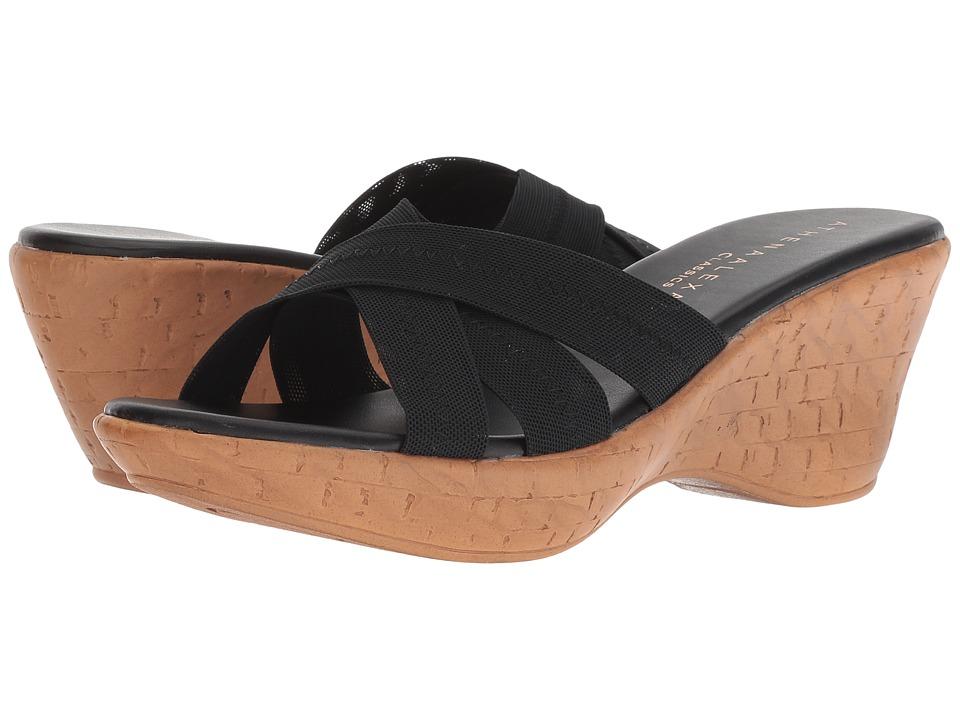 Athena Alexander Optima (Black Stretch) Sandals