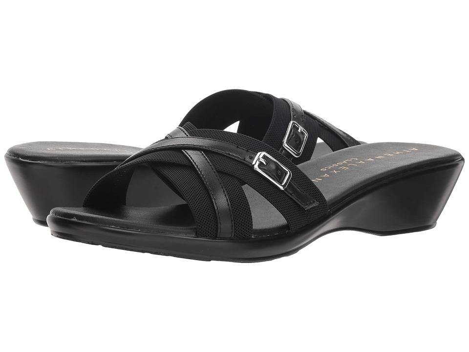 Athena Alexander Bindy (Black Stretch) Sandals