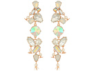Betsey Johnson Betsey Johnson Mixed Stone Linear Earrings