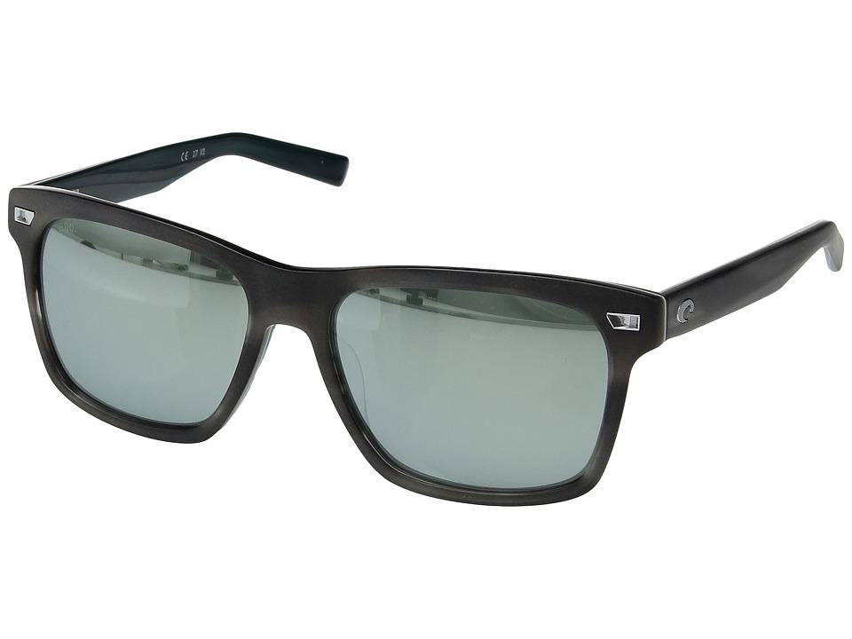 Costa - Aransas (Matte Storm Gray Frame/Gray/Silver Mirror 580G) Athletic Performance Sport Sunglasses