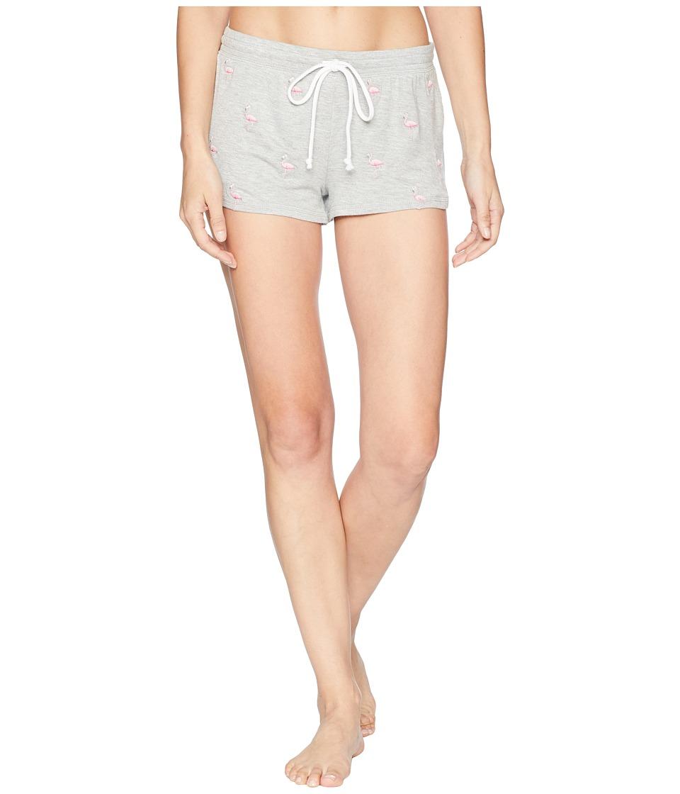 P.J. Salvage - Tropicana Flamingo Shorts (Heather Grey) Womens Pajama