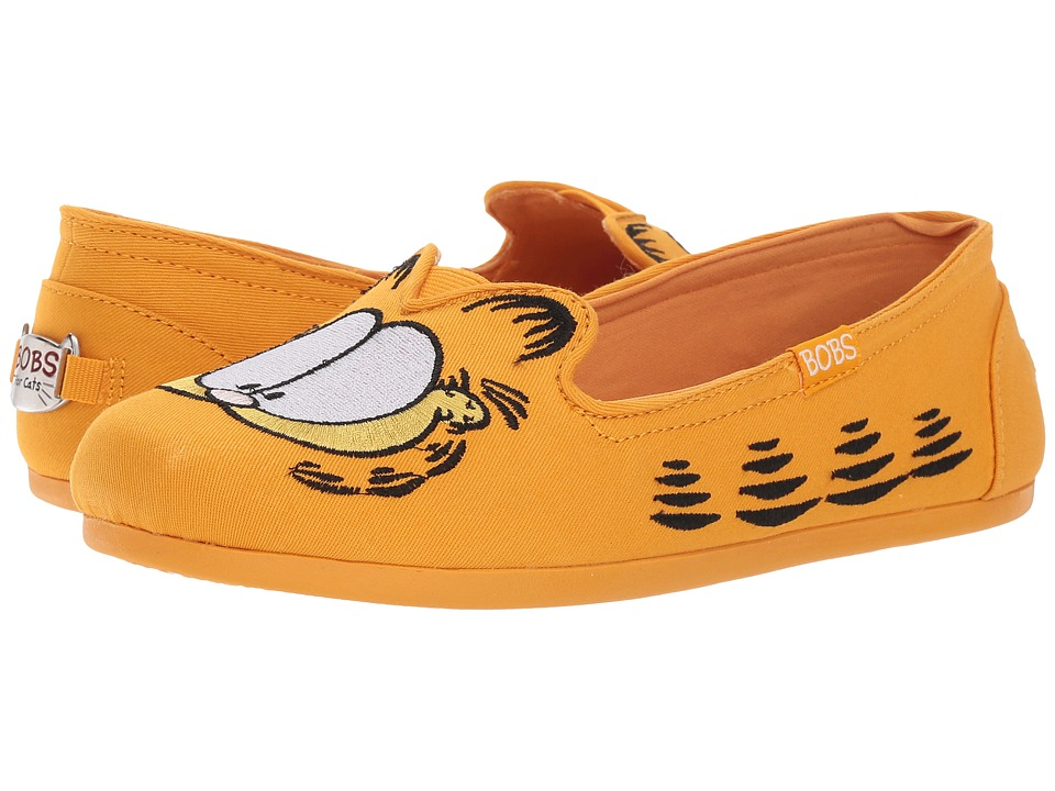 BOBS from SKECHERS - Bobs Plush - Catnip Fever (Orange) Womens Slip on  Shoes