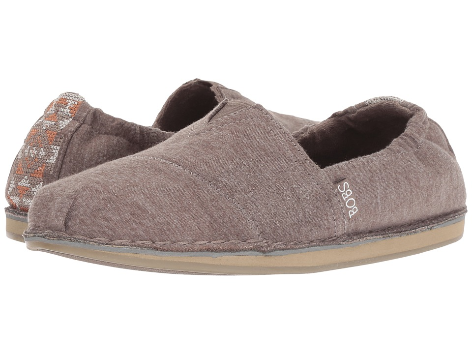 BOBS from SKECHERS Bobs Chill - Bohemian Alley (Dark Taupe) Slip-On Shoes