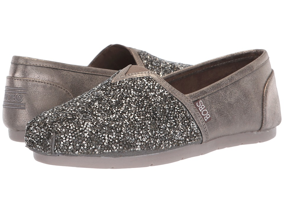 BOBS from SKECHERS Luxe Bobs (Pewter) Slip-On Shoes