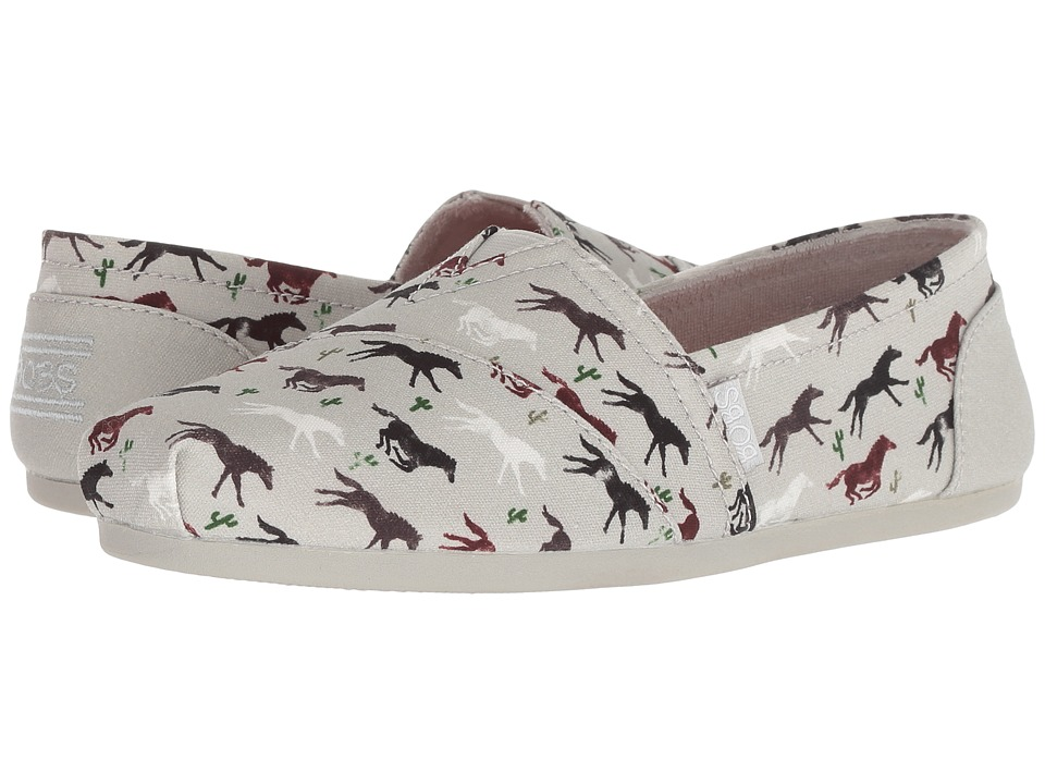 BOBS from SKECHERS Bobs Plush - Pony Up (Light Gray) Slip-On Shoes
