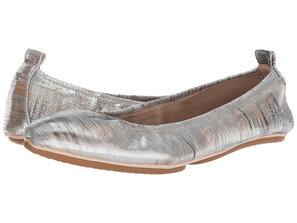 Yosi Samra Vince (Silver Metallic Noise Leather/Silver Noise Leather) Women's Shoes