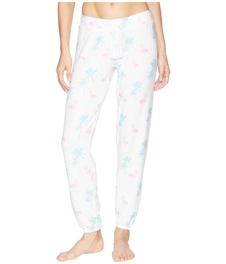 P.J. Salvage - Tropicana Flamingo Joggers (White) Womens Pajama