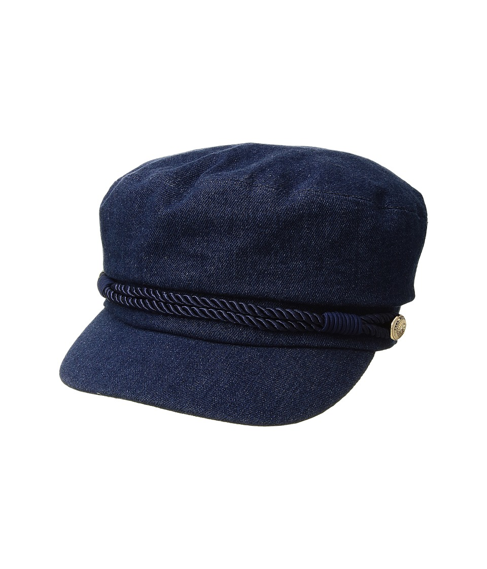 Hat Attack - Summer Emmy Newsboy Cap (Denim) Caps