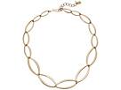 Robert Lee Morris Gold Oval Link Short Necklace