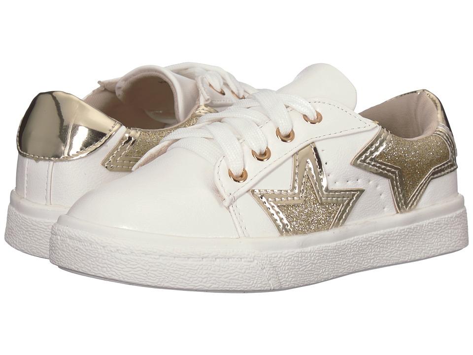 Yosi Samra Kids Miss Harper (Toddler/Little Kid/Big Kid) (White/Gold Star) Girls Shoes