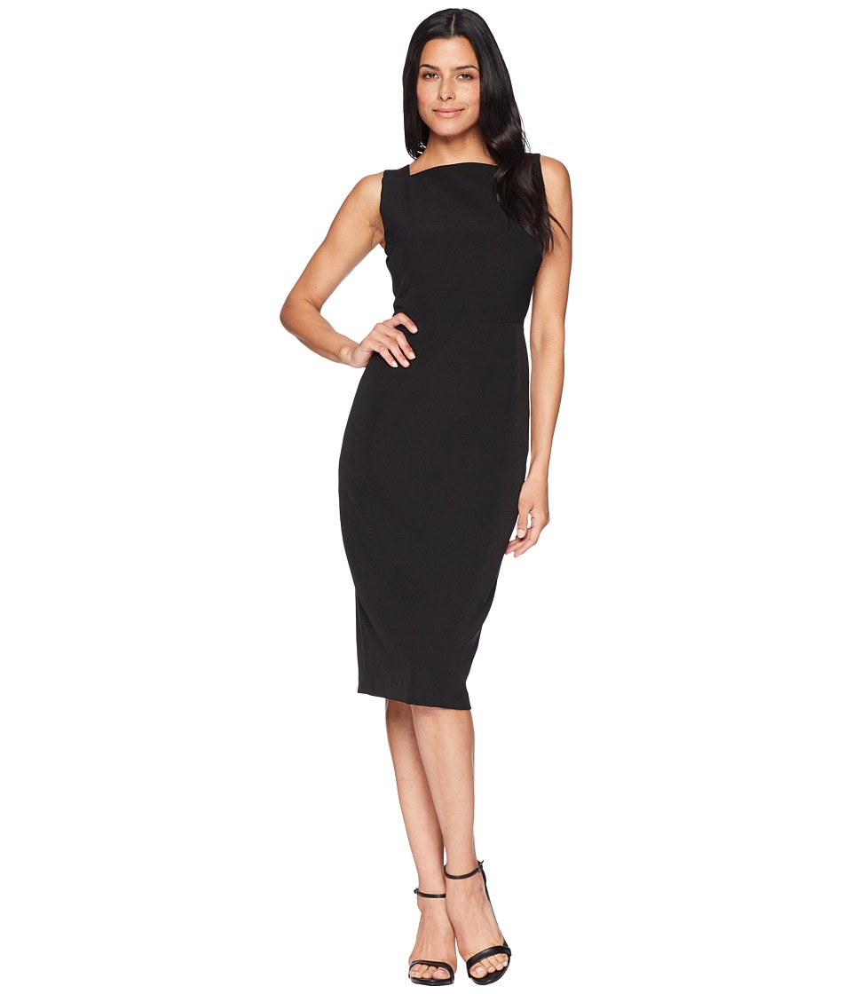 Maggy London - Dream Crepe Square Neck Sheath with Two-Way Back Zipper (Black) Womens Dress