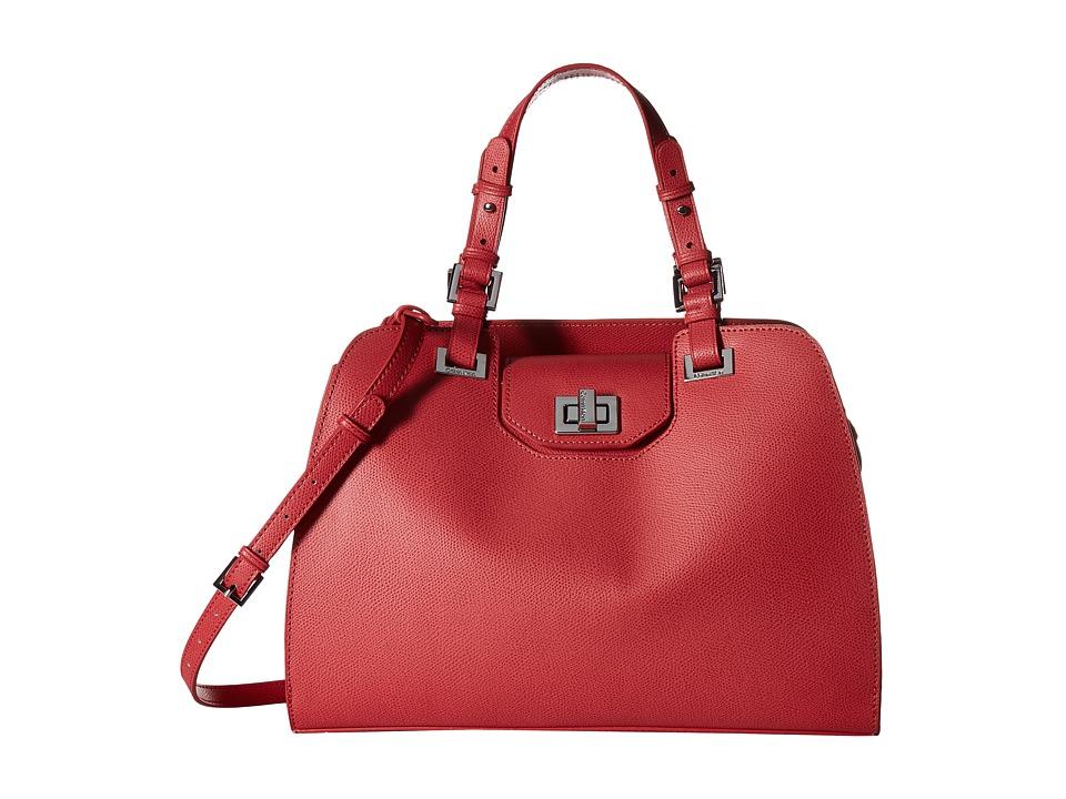 Calvin Klein Clementine Mercury Satchel (Rose Quartz) Sat...