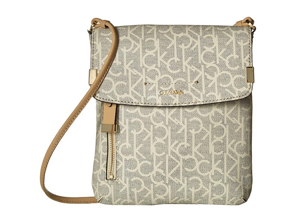 Calvin Klein - Raelynn Monogram Crossbody (Cream) Cross Body Handbags