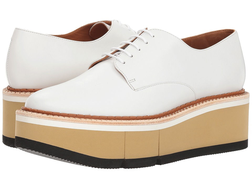 Clergerie Barbara (White Leather Calf) Slip-On Shoes