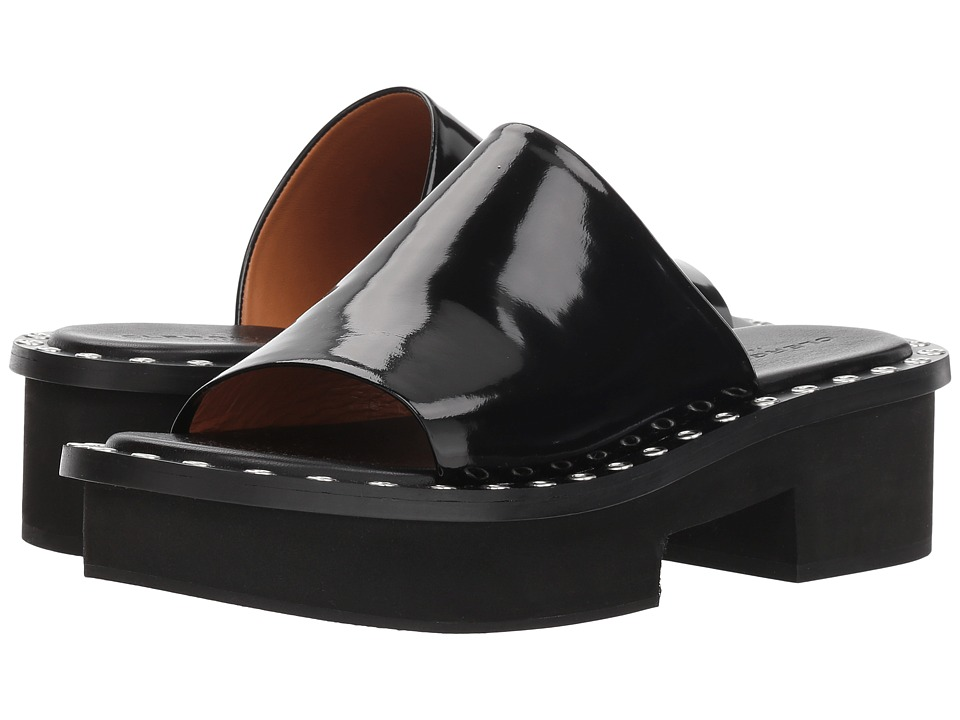 Clergerie Blanca (Black Spazzolato) Sandals