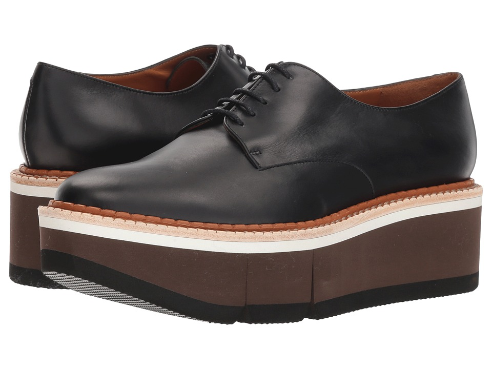 Clergerie Barbara (Black Leather Calf) Slip-On Shoes