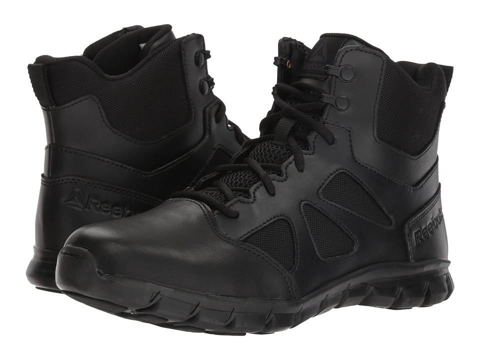Reebok Work - Sublite Cushion Tactical 6 Boot (Black) Mens Boots