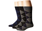 Polo Ralph Lauren 3-Pack Classic Argyle Cotton Blend with Polo Logo Knit In On Sole