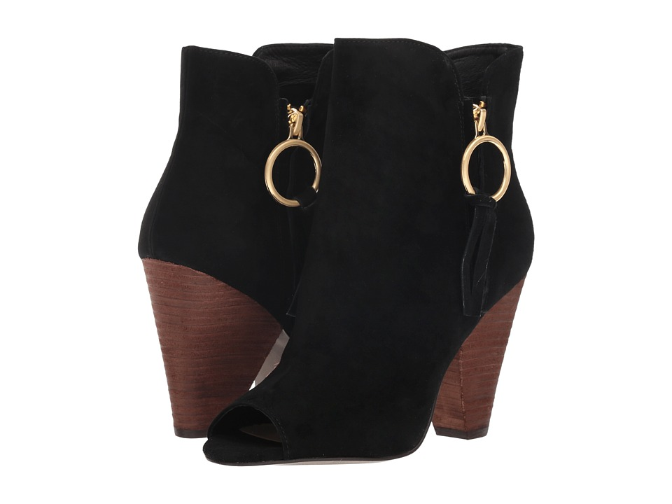 Kristin Cavallari Richmond (Black Kid Suede) Women's Pull-on Boots