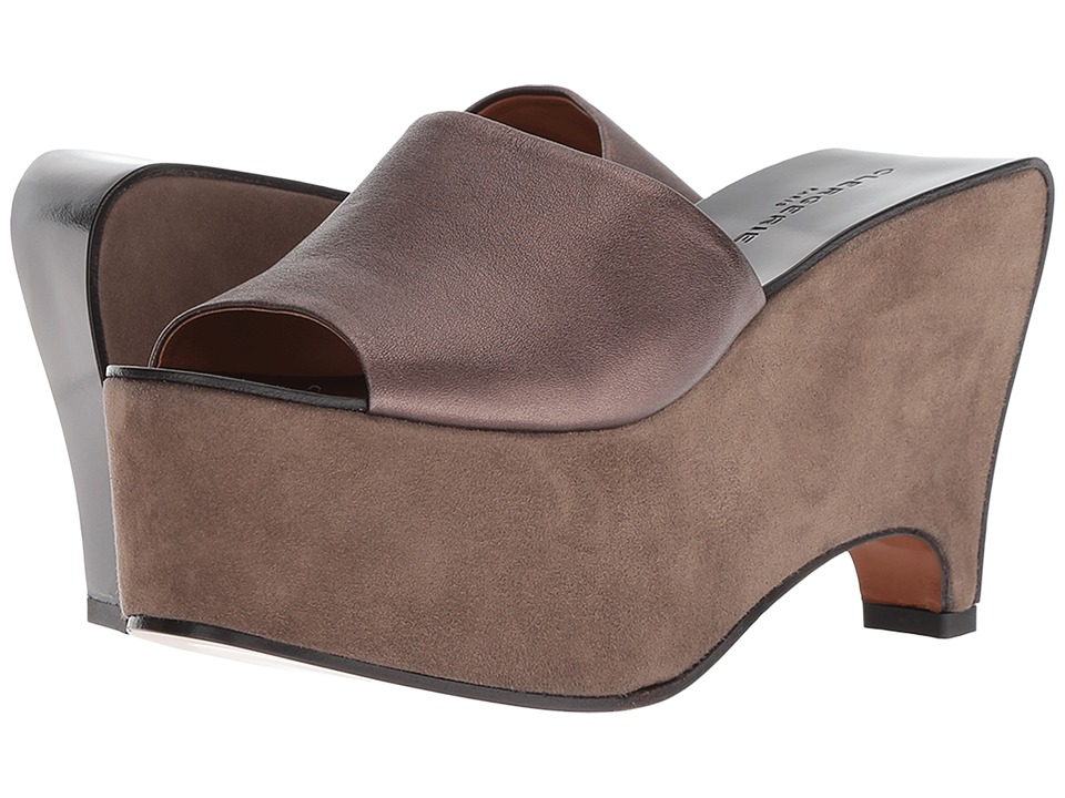 Clergerie Geraud (Mastic Metallic Nappa Leather) Wedges
