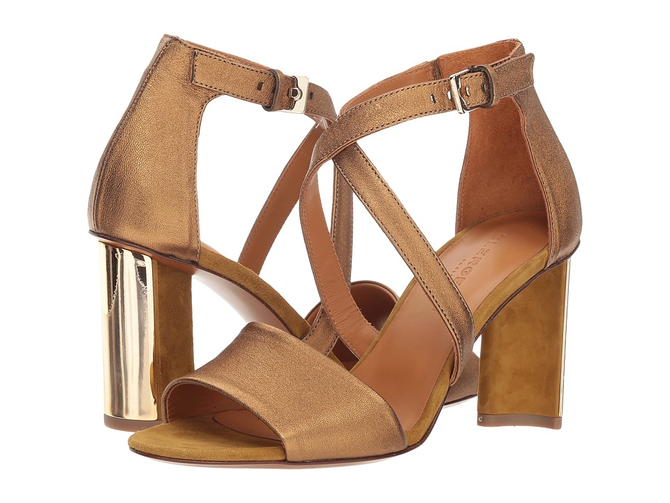 Clergerie Zian (Ocre Metallic Nappa Leather) High Heels