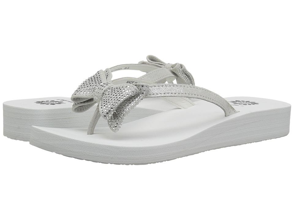 Yellow Box Bowtie (White) Sandals