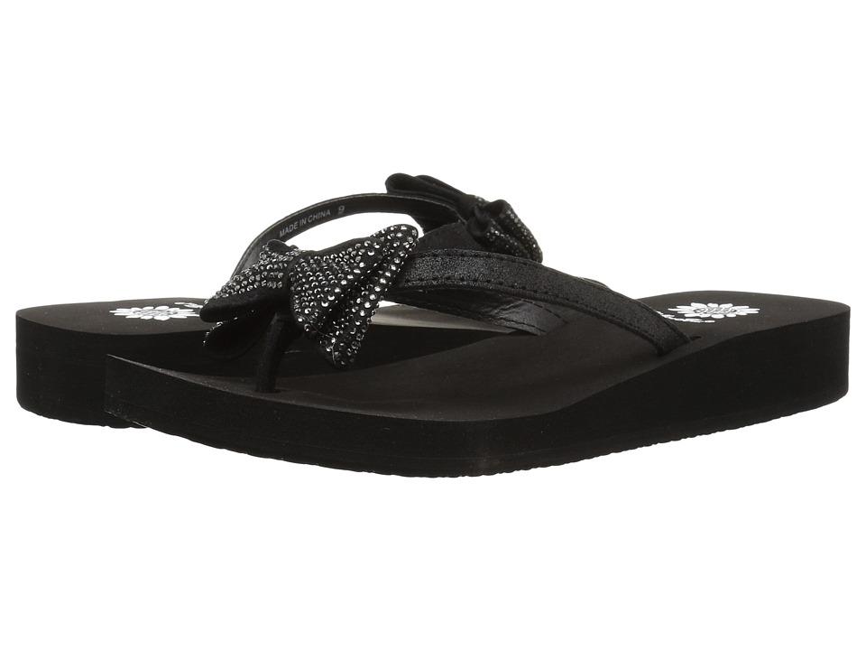 Yellow Box Bowtie (Black) Sandals