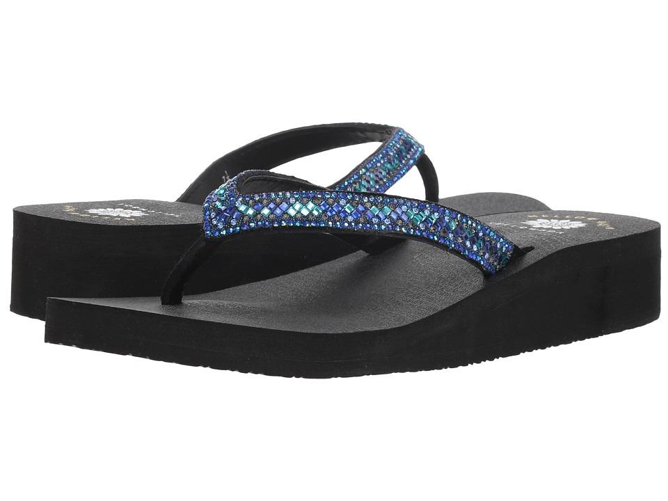 Yellow Box Dazzler (Blue) Sandals