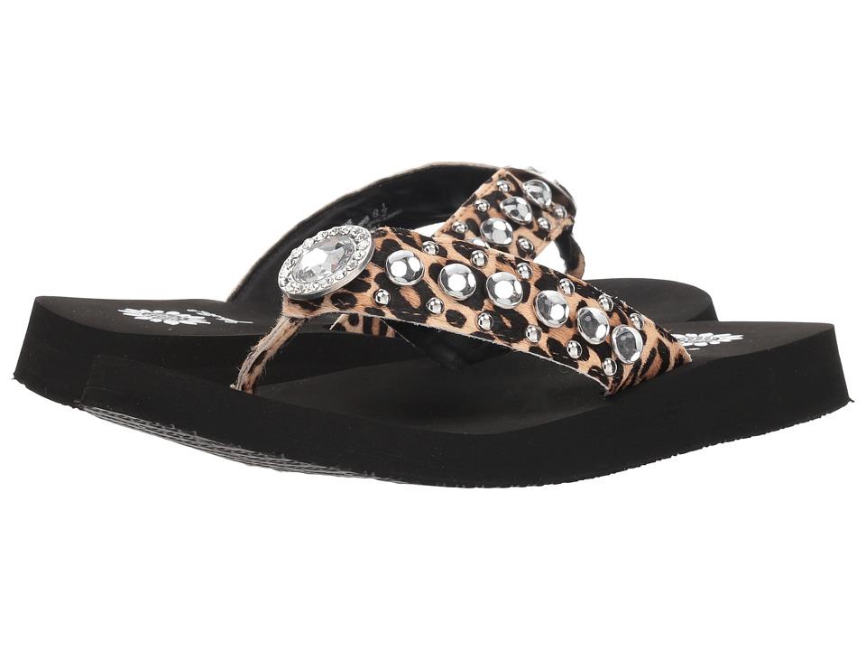 Yellow Box Myleene (Leopard) Sandals