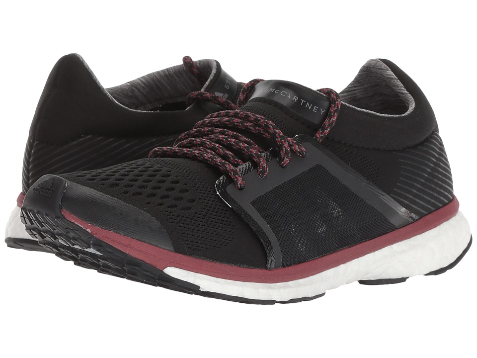 adidas by Stella McCartney Adizero Adios (Core Black/Granite/Noble Maroon) Women's Running Shoes