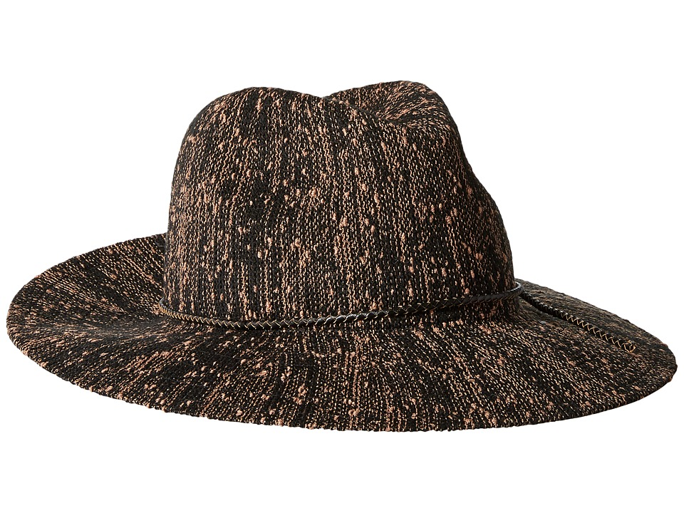 Collection XIIX - Pop Slub Packable Panama Hat (Black) Caps