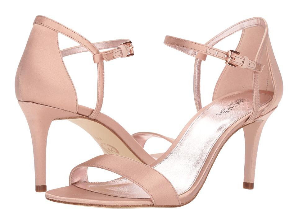MICHAEL Michael Kors Simone Mid Sandal (Soft Pink Satin) Sandals