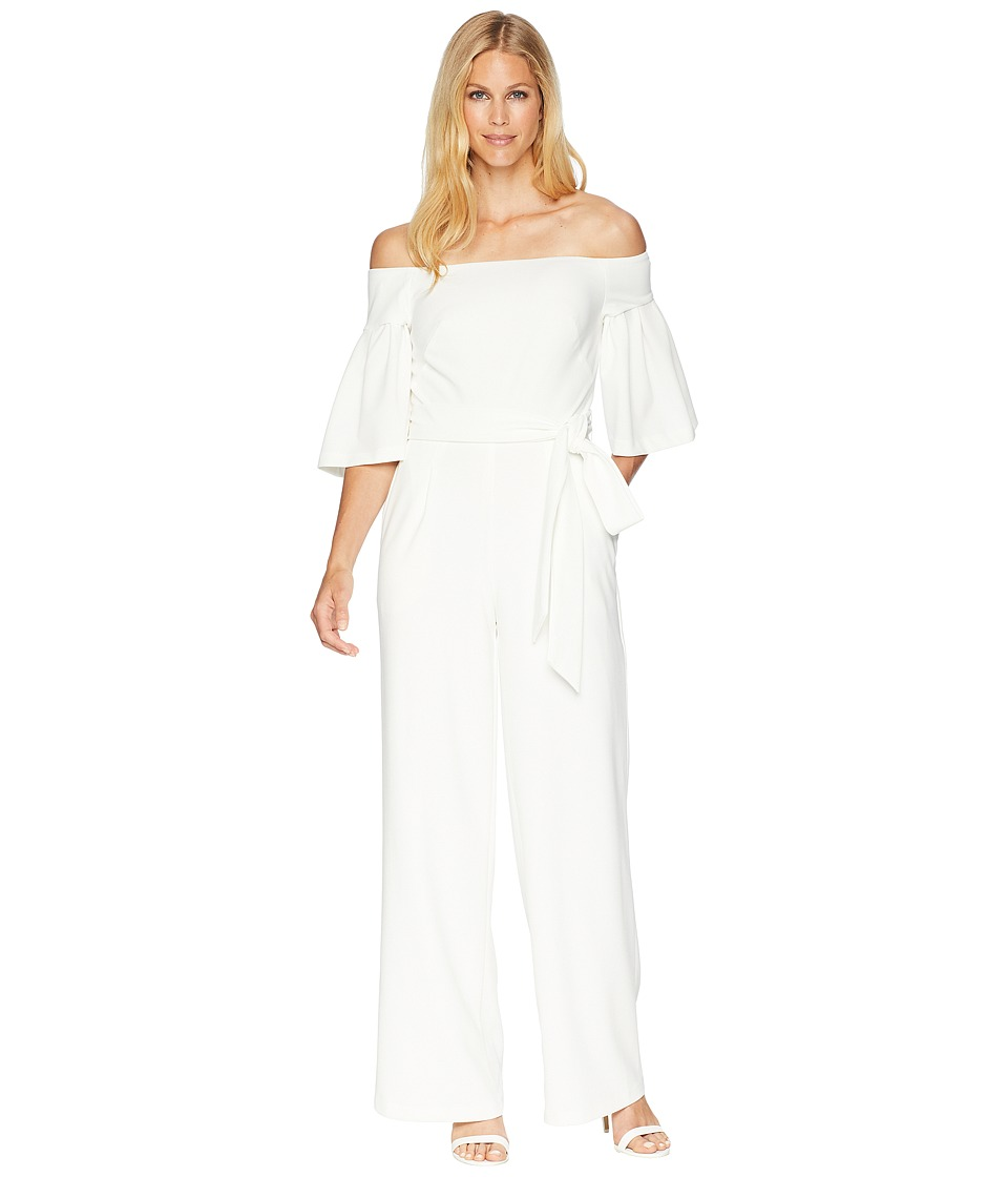 LAUREN Ralph Lauren - 130H Luxe Tech Crepe Ranada Jumpsuit (Cream) Womens Jumpsuit & Rompers One Piece