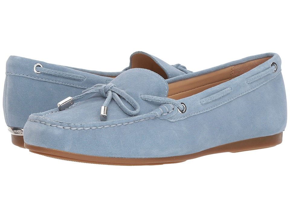 MICHAEL Michael Kors Sutton Moc (Powder Blue Sport Suede) Women's Shoes