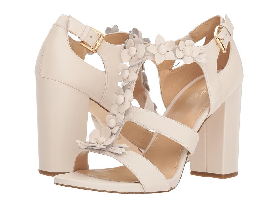 Michael Kors Tricia T - Strap (Ecru Nappa) High Heels