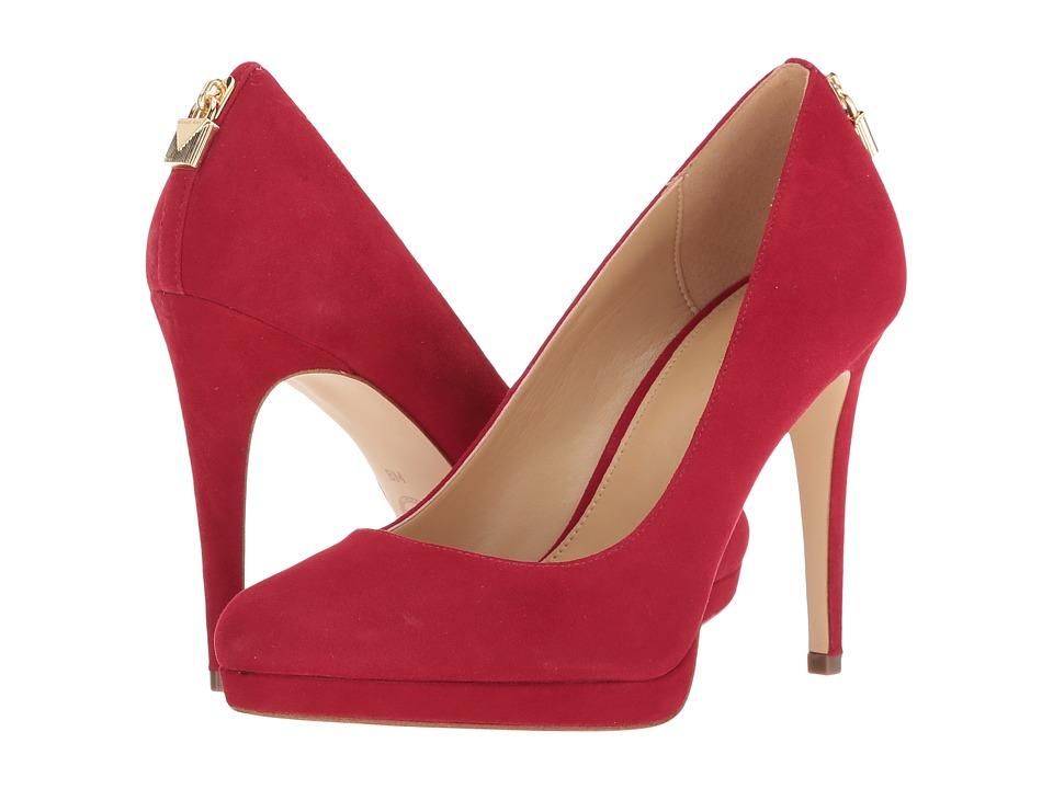 MICHAEL Michael Kors Antoinette Pump (Scarlet Kid Suede) High Heels