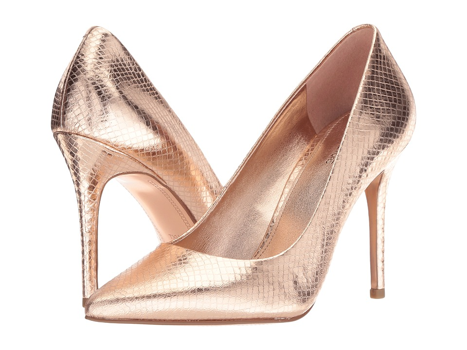 MICHAEL Michael Kors Claire Pump (Soft Pink Shiny Metallic Snake/Metallic Outsole) Women's Shoes