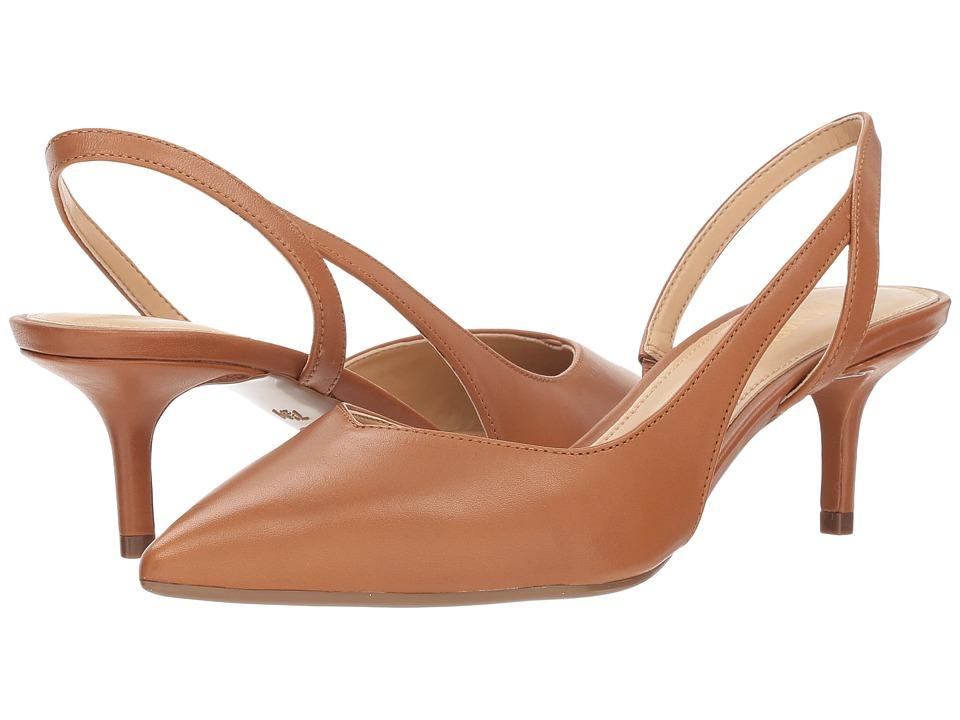 MICHAEL Michael Kors Eliza Flex Kitten Pump (Acorn Vachetta) 1-2 inch heel Shoes