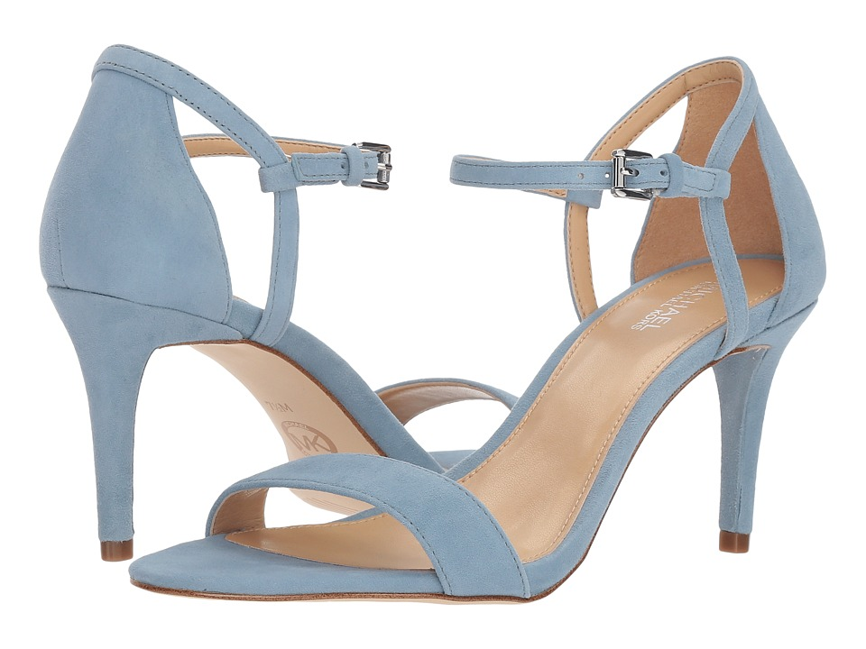 MICHAEL Michael Kors Simone Mid Sandal (Powder Blue Kid Suede) Sandals