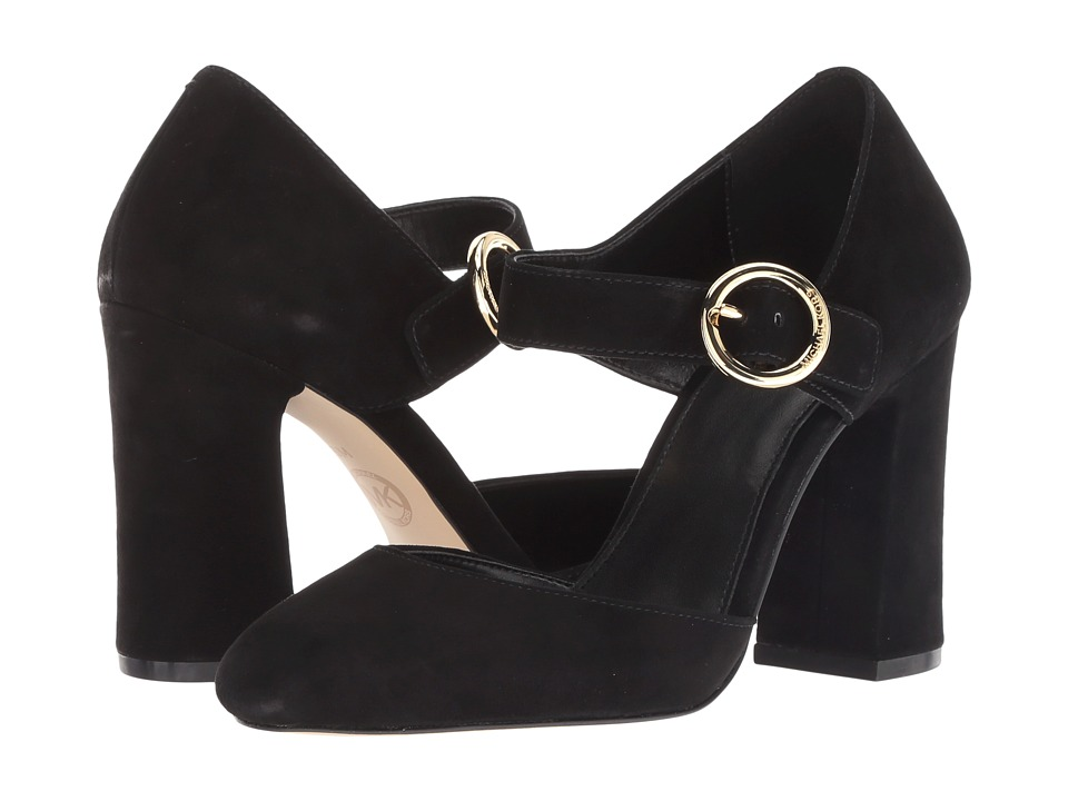 MICHAEL Michael Kors Alana Closed Toe (Black Kid Suede) High Heels