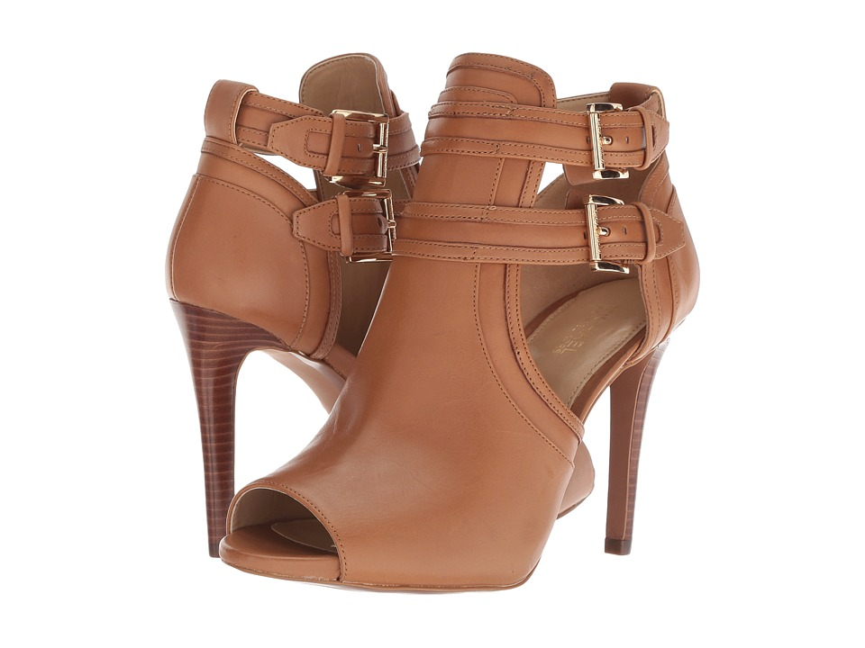 MICHAEL Michael Kors Blaze Open Toe Bootie (Acorn Smooth Calf)