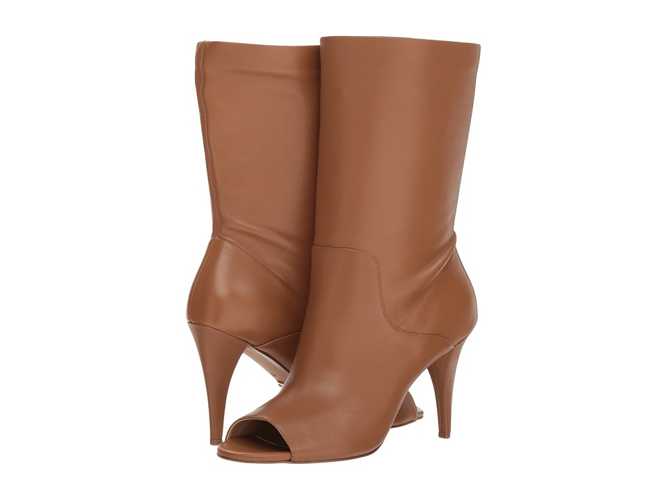 MICHAEL Michael Kors Elaine Open Toe Bootie (Acorn Soft Distressed Leather)