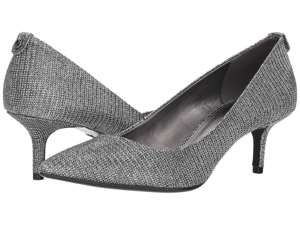 MICHAEL Michael Kors MK-Flex Kitten Pump (Black/Silver Glitter Chain Mesh) 1-2 inch heel Shoes