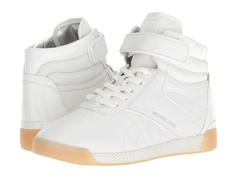 MICHAEL Michael Kors Addie High Top (Optic White Nappa/Patent/Small Air Mesh) Women's Shoes
